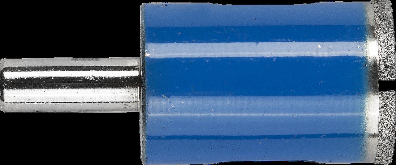 Сверло алмазное трубчатое по стеклу и кафелю, d=20 мм, зерно Р 100, ЗУБР Профессионал 29860-20
