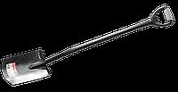 """Лопата """"АРТЕЛЬ"""" прямоугольная, стальной черенок, двухкомпонентная рукоятка, ЗУБР"""