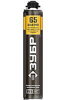 GOLD PRO 65 пена монтажная мелкопористая с увелич. выходом, пистолетная, всесезонная, 850мл, SVS,  ЗУБР