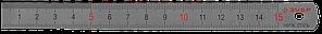 """Линейка ЗУБР """"ЭКСПЕРТ"""" нержавеющая, узкая, двусторонняя, непрерывная шкала 1/2мм, длина 0,15 м, толщина 0,5 мм"""