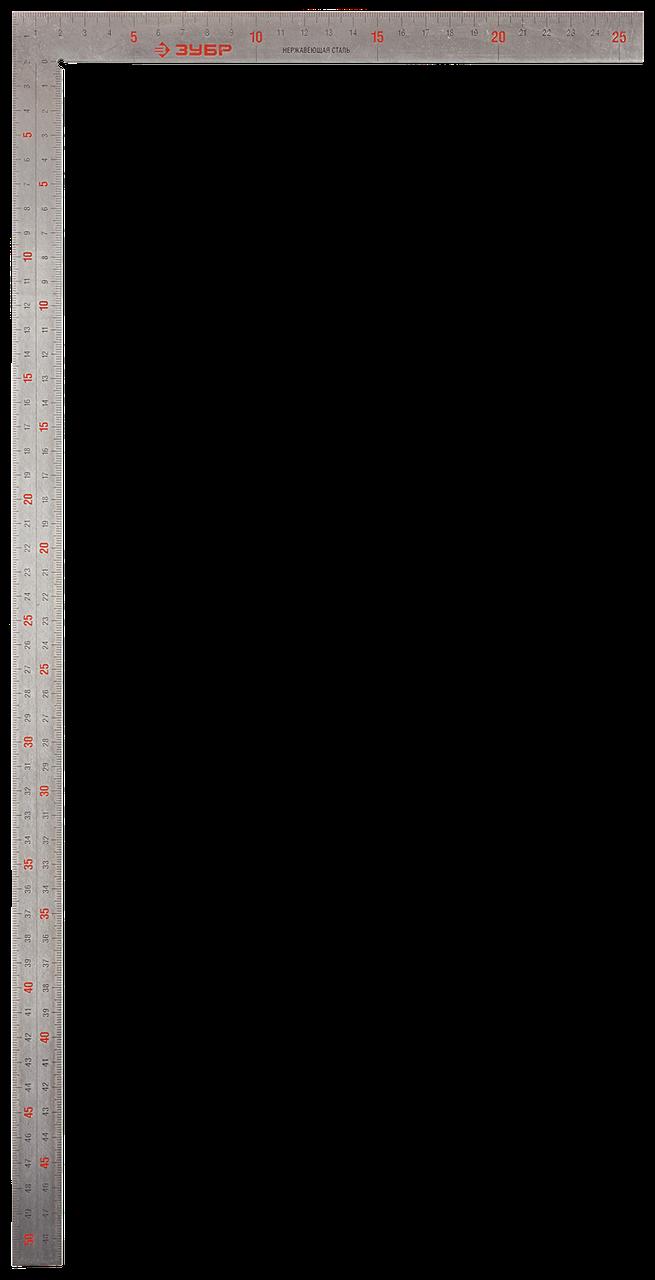 ЗУБР ЦЕЛЬ 500 х 250 мм цельнометаллический нержавеющий угольник