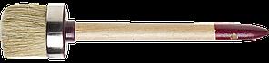 """Кисть круглая ЗУБР """"УНИВЕРСАЛ - МАСТЕР"""", светлая щетина, деревянная ручка, №18, 60мм"""