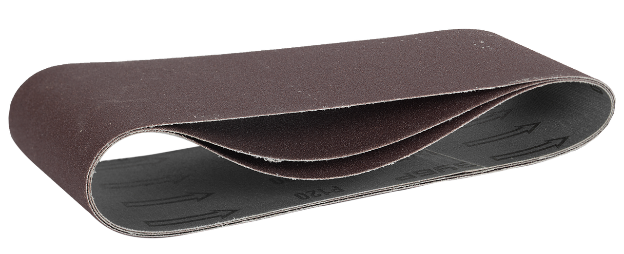 ЗУБР 75х533 мм, P120, лента шлифовальная МАСТЕР, для ЛШМ, 3 шт.