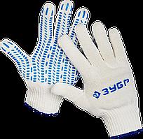 """ЗУБР ПРОТЕКТОР, размер L-XL, 10 пар в упаковке, перчатки с увеличенной площадью ПВХ-гель покрытия """"протектор"""","""