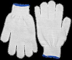ЗУБР КОМФОРТ, размер L-XL, перчатки трикотажные тонкие, без покрытия, 11450-XL