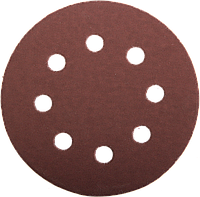 """Круг шлифовальный ЗУБР """"Мастер"""" универсальный, из абразивной бумаги на велкро основе, 8 отверстий, Р600,"""