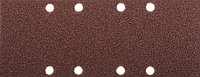 """Лист шлифовальный ЗУБР """"Мастер"""", 8 отверстий, для ПШМ на зажимах, Р80, 93х230мм, 5шт"""
