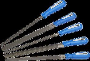 ЗУБР БЛИЦ набор напильников, двухкомпонентная рукоятка, 250 мм