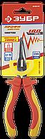 """Тонкогубцы """"ПРОФИЭЛЕКТРИК"""", диэлектрические, двухкомпонентная маслобензостойкая рукоятка, до ~1000В, 160мм,"""