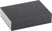 "Губка шлифовальная ЗУБР ""ЭКСПЕРТ"" четырехсторонняя, SiC, средняя жесткость, Р120, 100х68х26 мм"