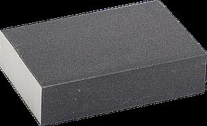 "Губка шлифовальная ЗУБР ""ЭКСПЕРТ"" четырехсторонняя, SiC, средняя жесткость, Р180, 100х68х26 мм"
