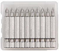 """Биты ЗУБР """"Мастер"""" кованые, хромомолибденовая сталь, тип хвостовика E 1/4"""", PH1, 50мм, 10шт"""