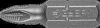 """Биты ЗУБР """"Мастер"""" кованые, хромомолибденовая сталь, тип хвостовика C 1/4"""", PZ1, 25мм, 2шт"""