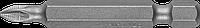 """Биты ЗУБР """"Мастер"""" кованые, хромомолибденовая сталь, тип хвостовика E 1/4"""", PZ1, 50мм, 2шт"""