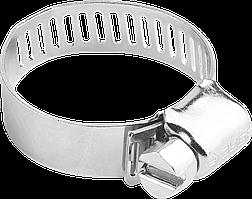 Хомуты оцинкованные, просечная лента 12.7 мм, 40-64 мм, 100 шт, ЗУБР