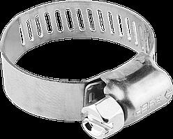 Хомуты, нерж. сталь, просечная лента 8 мм, 10-16 мм, 200 шт, ЗУБР Профессионал