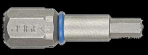 """Биты ЗУБР """"ЭКСПЕРТ"""" торсионные кованые, обточенные, хромомолибденовая сталь, тип хвостовика C 1/4"""", HEX3,"""