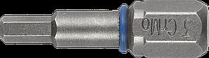 """Биты ЗУБР """"ЭКСПЕРТ"""" торсионные кованые, обточенные, хромомолибденовая сталь, тип хвостовика C 1/4"""", HEX4,"""