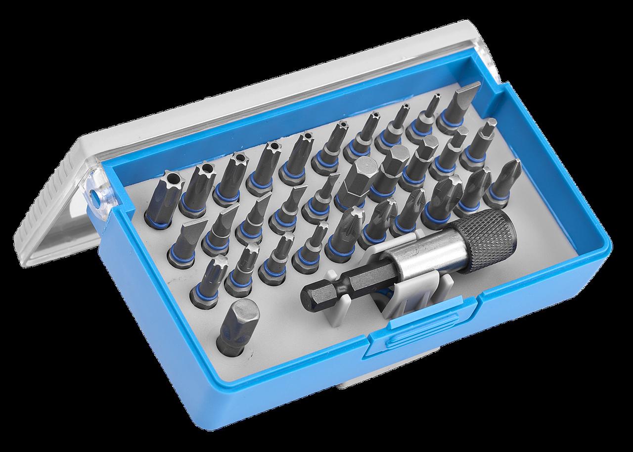 Набор ЗУБР: Биты из хромомолибденовой стали, 31 бита - 25мм, адаптер, 32 предмета