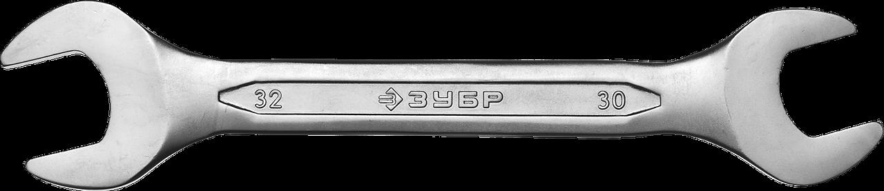 Рожковый гаечный ключ 30 x 32 мм, ЗУБР
