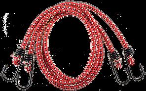 """Шнур ЗУБР """"Мастер"""" резиновый крепежный со стальными крюками, 120 см, d 8 мм, 2 шт"""