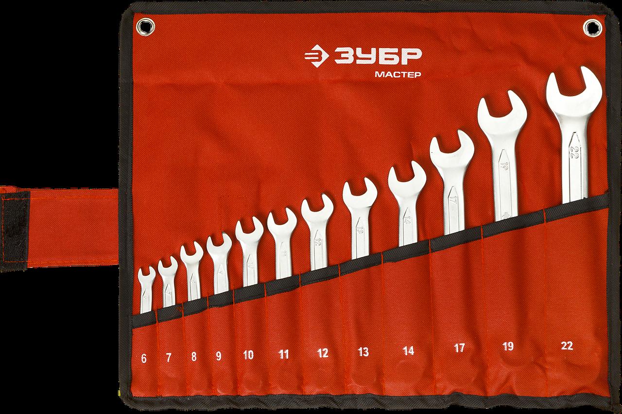 Набор комбинированных гаечных ключей 12 шт, 6 - 22 мм, ЗУБР