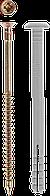Дюбель-гвоздь полипропиленовый, грибовидный бортик, 6 x 40 мм, 1700 шт, ЗУБР