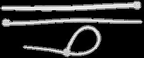 Кабельные стяжки белые КС-Б2, 3.6 х 200 мм, 50 шт, нейлоновые, ЗУБР Профессионал
