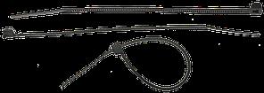 Кабельные стяжки черные КС-Ч2, 2.5 х 200 мм, 50 шт, нейлоновые, ЗУБР Профессионал