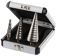 ЗУБР 3 шт., 4-30мм, набор ступенчатых сверл, сталь Р6М5