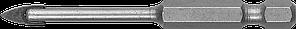 Сверло по кафелю, керамике, стеклу, с двумя режущими лезвиями, шестигранный хвостовик, 3 мм, ЗУБР 29840-03