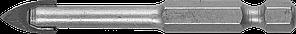 Сверло по кафелю, керамике, стеклу, с двумя режущими лезвиями, шестигранный хвостовик, 8 мм, ЗУБР 29840-08