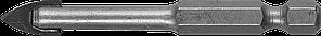 Сверло по кафелю, керамике, стеклу, с двумя режущими лезвиями, шестигранный хвостовик, 10 мм, ЗУБР 29840-10