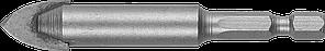 Сверло по кафелю, керамике, стеклу, с двумя режущими лезвиями, шестигранный хвостовик, 12 мм, ЗУБР 29840-12