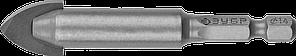 Сверло по кафелю, керамике, стеклу, с двумя режущими лезвиями, шестигранный хвостовик, 14 мм, ЗУБР 29840-14