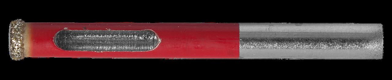 Сверло алмазное трубчатое по кафелю и стеклу, d=6 мм, зерно Р 60, ЗУБР Профессионал 29850-06