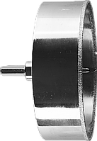 Коронка алмазная по кафелю и стеклу, d=102 мм, зерно Р 60, в сборе с центрирующим сверлом и имбусовым ключом,