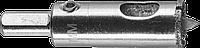 Коронка алмазная по кафелю и стеклу, d=18 мм, зерно Р 60, в сборе с центрирующим сверлом и имбусовым ключом,