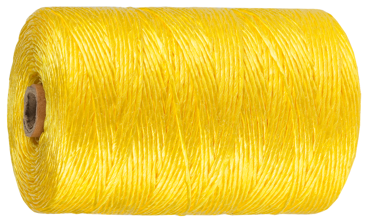 Шпагат ЗУБР многоцелевой полипропиленовый, желтый, d=1,8 мм, 110 м, 50 кгс, 1,2 ктекс