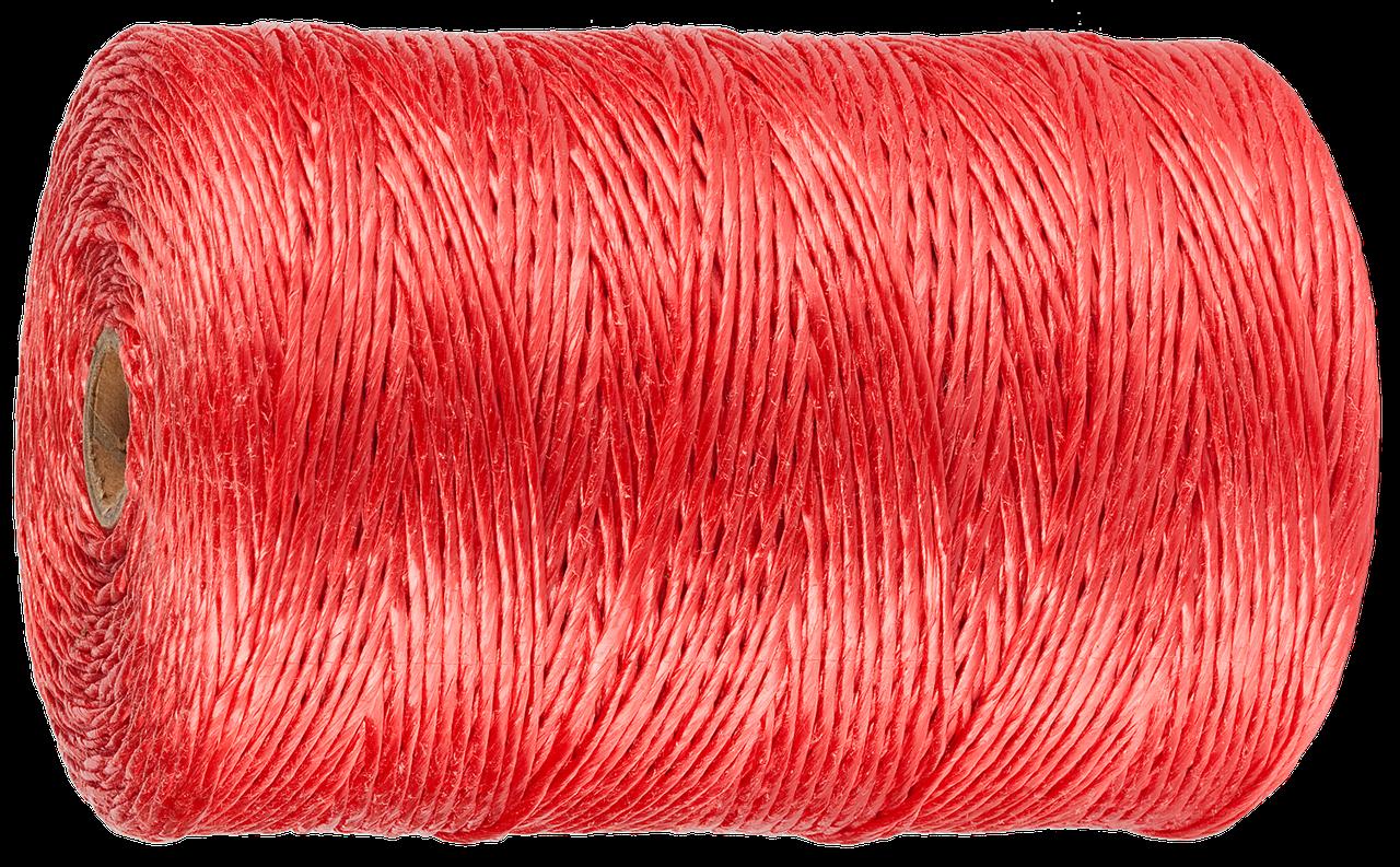 Шпагат ЗУБР многоцелевой полипропиленовый, красный, d=1,8 мм, 60 м, 50 кгс, 1,2 ктекс
