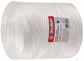Шпагат ЗУБР полипропиленовый, d=2,0 мм, 400м, белый, 22 кгс, 1,6 ктекс
