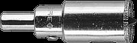 Коронка алмазная по кафелю и стеклу, d=20 мм, зерно Р 60, в сборе с центрирующим сверлом и имбусовым ключом,