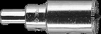 Коронка алмазная по кафелю и стеклу, d=24 мм, зерно Р 60, в сборе с центрирующим сверлом и имбусовым ключом,