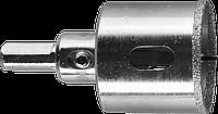 Коронка алмазная по кафелю и стеклу, d=38 мм, зерно Р 60, в сборе с центрирующим сверлом и имбусовым ключом,