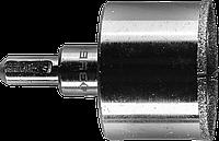 Коронка алмазная по кафелю и стеклу, d=45 мм, зерно Р 60, в сборе с центрирующим сверлом и имбусовым ключом,
