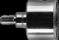 Коронка алмазная по кафелю и стеклу, d=50 мм, зерно Р 60, в сборе с центрирующим сверлом и имбусовым ключом,