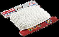 Шнур ЗУБР полиамидный, плетеный, повышенной нагрузки, без сердечника, белый, d 6, 20м