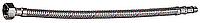 """Подводка гибкая ЗУБР для воды к смесителям, оплетка из нержавеющей стали, укороченная, г/ш 1/2"""" - 0,8м"""
