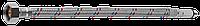 Подводка гибкая ЗУБР для воды, к смесителям, оплетка из нержавеющей стали, удлиненная, г/ш 0,5м