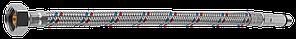Подводка гибкая ЗУБР для воды, к смесителям, оплетка из нержавеющей стали, удлиненная, г/ш 0,8м